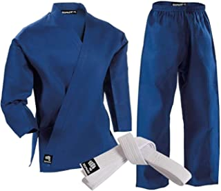 MAddog Zephyr Martial Arts Karate Gi Student Uniform with Belt - Blue - 4