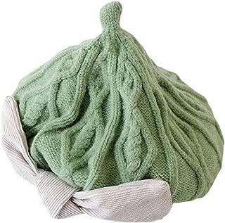 COMVIP Baby Girls Winter Cute Princess Bowknot Knit Beret Cap Warm Hat