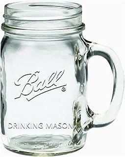 Ball 1440016000 Regular Mouth Drinking Mug, 16 Oz (2-Pack)