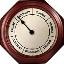 DayClocks Classic Day Clock – Day of the Week Clock - Fun Retirement Gift – Mahogany Wall Clock