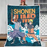 WFQTT Ropa de cama infantil, manta de Naruto suave, acogedora, manta impresa en 3D, para niños y adultos, para todas las estaciones, 1,60 x 50 cm