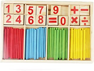 Child Kids Mathematics Teaching Fun Play Toy-Wood stick Number Add subtract multiply and divide