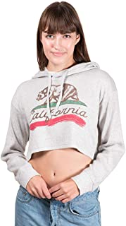 Women's Hacci Crop Top Hoodie Cropped Sweatshirt