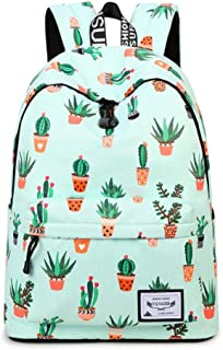 Yanaier Backpack for Teen Women Cute Canvas Daypack Casual Travel School Bookbag