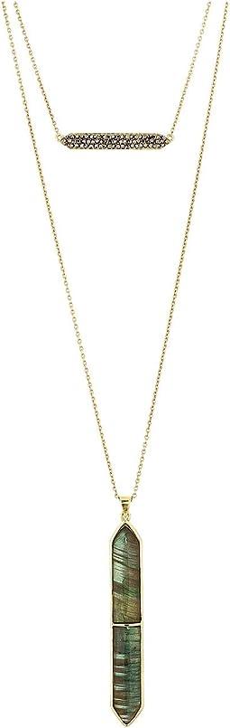 12K Soft Polish Gold/Hematite/Labradorite
