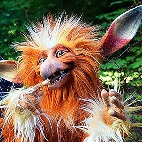Haariges Monster Plüsch Dekoration Kawaii wie EIN AFFE wie EIN Elfen wie EIN Unruhestifter Puppen Ornaments Funny PlüSchpuppe Süß Stofftiere Figuren Statue Kuscheltier für Erwachsene Kinder 11.8Zoll