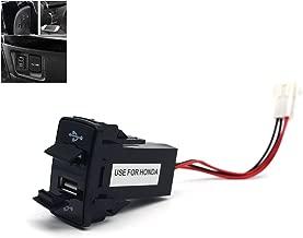 MOTONG 2.1A Dual USB Socket for Honda - Honda 2.1A Dual USB Power Socket Port for iPhone X/8/7/6/5, iPad, Samsung,LG,Huawei and More(44 26mm)