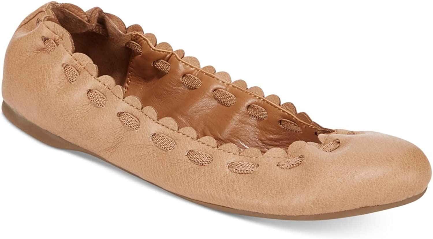 Style & Co. Womens Barbbee Faux Leather Ballet Flats Tan 5 Medium (B,M)