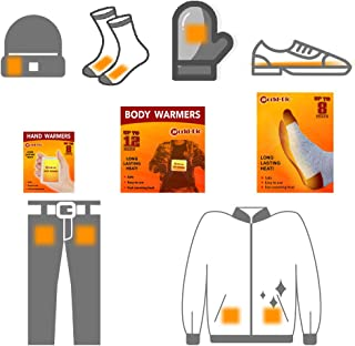 WORLD-BIO Body Warmers Patch Disposable with Adhesive Backing Gives 12 Hours Warm Pad - 10/20/30 Packs, Foot Warmer 20 Pairs/Wing Warmers 10 Packs, Long Lasting Safe Natural Odorless Air Activated