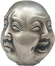 Home Statues Sculpture Animal Figures & Statues Metal Crafts Tibetan Silver 4 Faces Buddha Head Statue Tibetan Silver Bron...