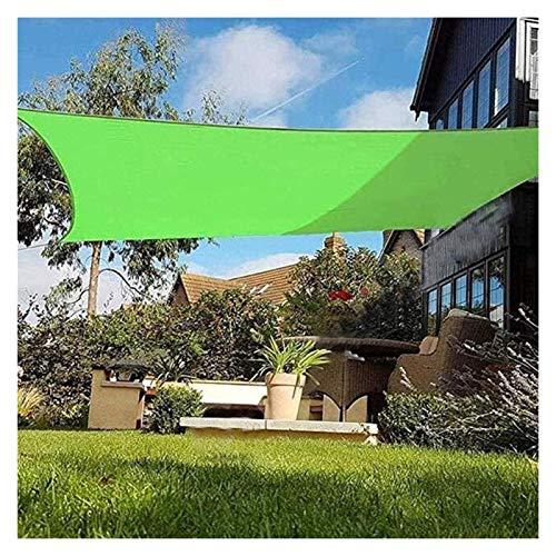 Toldo Vela De Sombra Cuadrado, Toldo De Vela De Sombra Impermeable 100% Poliéster [PES] 95% De Bloqueo UV para Exterior, Patio, Jardín, Césped, Pérgola, Cubierta (Color : Green, Size : 2x2m)