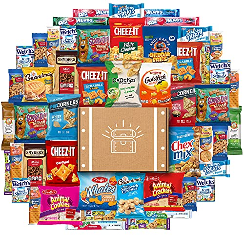 Snack Chest Ultimate Care Package (50 Count) includes Snacks, Cookies, Chips, Crackers and More Bulk Variety Pack Sampler