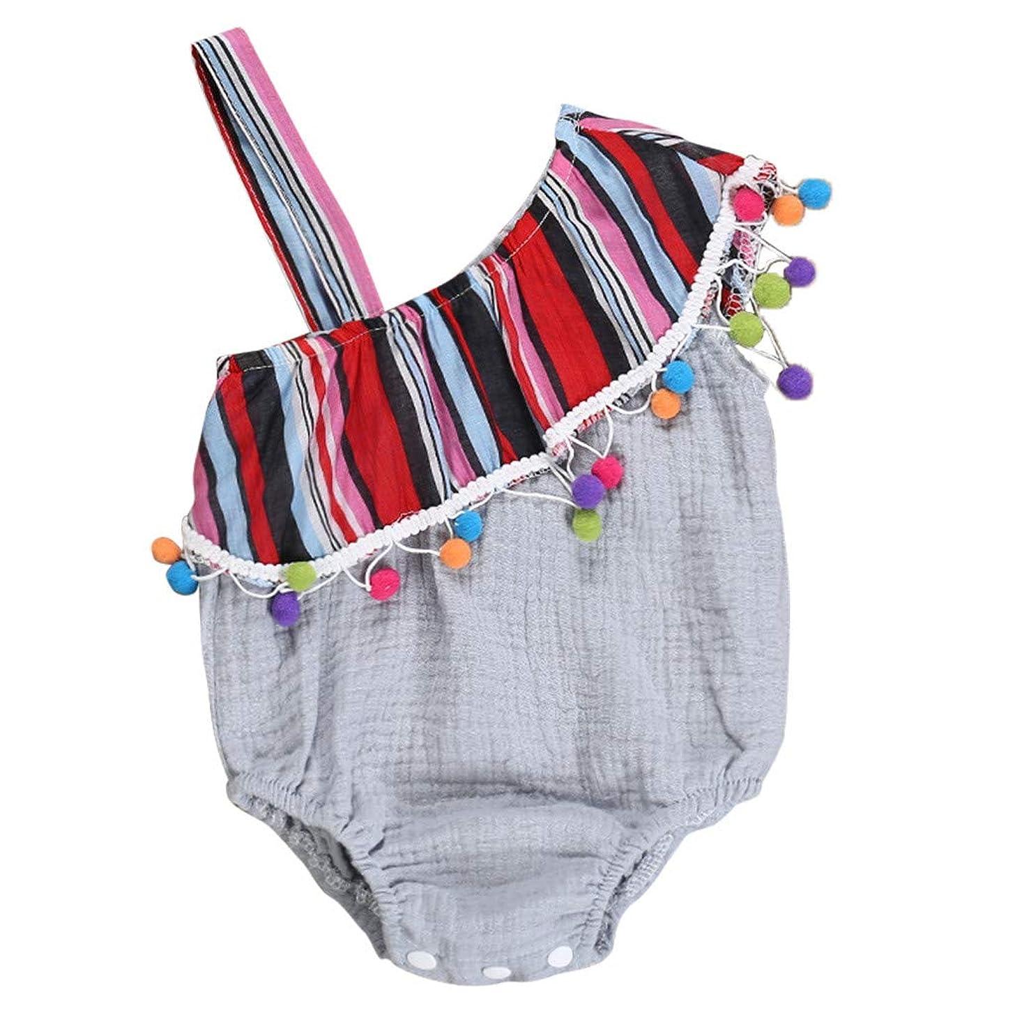 Infant Baby Girl Romper HANANei Off Shoulder Sundress Bodysuit Tassels Jumpsuit Clothes Outfits