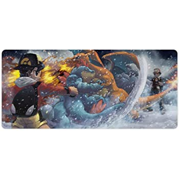 Extended Gaming Mouse Pad with Stitched Edges McCree Overwatch Rectangular Computer Mousepad Desk Pad Keyboard Mat Non-Slip Water-Resistant for Work Gaming Office Home 23.6x11.8 Inch