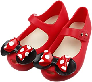 283964f254fc iFANS Girls Sweet Dot Bow Princess Sandals Shoes Mary Jane Flats for  Toddler Little Kid
