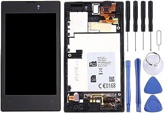 مجموعة الهاتف الخلوي Lingland شاشة LCD + لوحة لمس مع إطار لنوكيا لوميا 520(أسود) مجموعة شاملة للشاشة