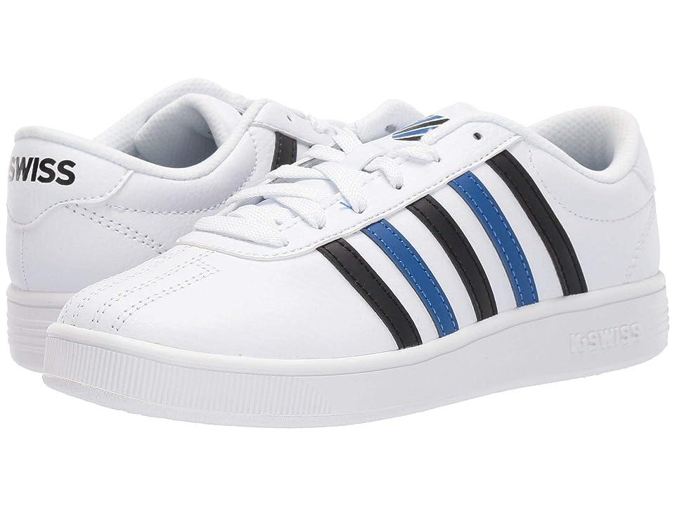 K-Swiss Classic Pro (Big Kid) (White/Black/Classic Blue) Shoes