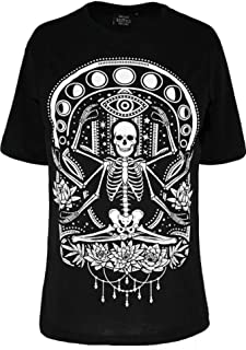 Restyle Chill Skeleton Moon Phases Gothic Oversized T-Shirt