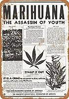 錫金属記号壁装飾1928マリファナ暗殺者若者ビンテージレトロホームバーパブ装飾装飾品