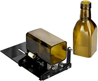 Glass Bottle Cutter, Fixm Square & Round Bottle Cutting Machine, Wine Bottles and..