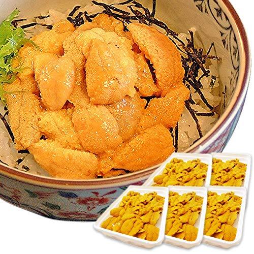イカ屋荘三郎 生食用 生ウニ100g ×5パック セット ミョウバン不使用 お取り寄せ ギフト ヤマキ食品