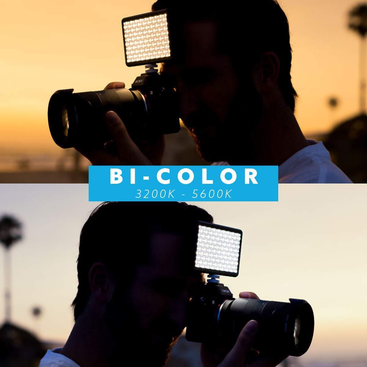 Photo and Video Lighting Nikon Fuji DSLR Ball Head Mount Bicolor Continuous LED Video Light Made for Content Creators Canon Panasonic Fits Sony Lume Cube Panel Mini