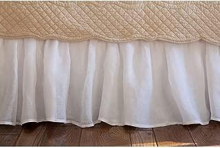 Taylor Linens Linen Voile Bed Skirt Size: Crib, Color: White