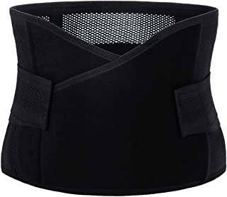 Hernia Support Belt for Woman Small Size ONLY, Abdominal Binder for Belly Button Hernias or Navel Hernias by J-Bless (Black)