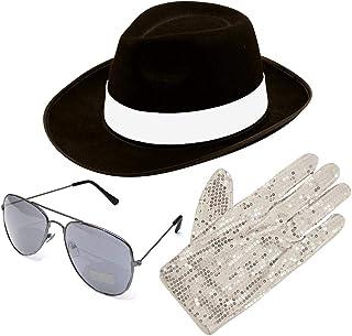 Desconocido Michael Jackson Estilo 3 piezas set sombrero