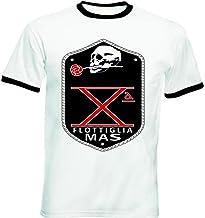 teesquare1st FLOTTIGLIA Decima MAS Tshirt de Hombre con Bordes Negros