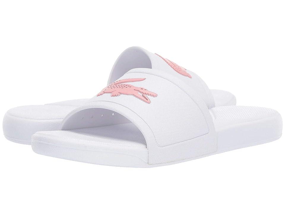 Lacoste Kids L.30 Slide 119 2 CUJ (Little Kid/Big Kid) (White/Light Pink) Girl