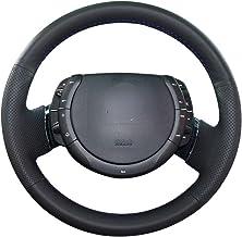 ZYTB Para la Cubierta del Volante del Coche dePU Negro Cosida a Manopara Citroen Triumph C4 2005-2010