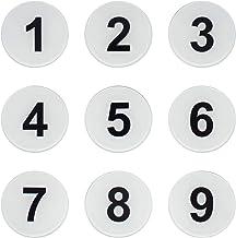 Ronde Locker Nummer Tag Sticker Kamer Nummer Deurteken met Zelfklevende Tape (1-25, Wit)