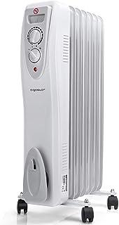 Aigostar Carl - Radiador de aceite de 7 elementos, Bajo Consumo, dispone de 3 ajustes de potencia y control termostático d...
