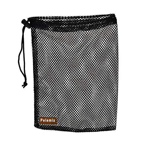 Great Features Of Pelemix 1 Black Golf Bag Nylon mesh Golf Bag 48 Rope Sealed Bags (30 × 19cm)