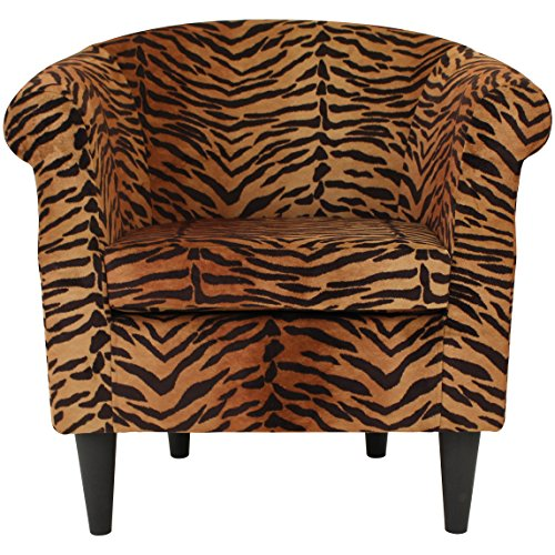 Parker Lane Uch-Nik-pon1 Safari Club Chair, Tiger Print