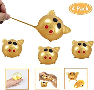 yuexanhgd Pig Splat Ball,Anti-Stress Decompression Squishy Toy Squeeze Ball, Sticky Stretchy Toys Slow Rising Bouncy Balls Funny Tricky Toys for Adults Kids