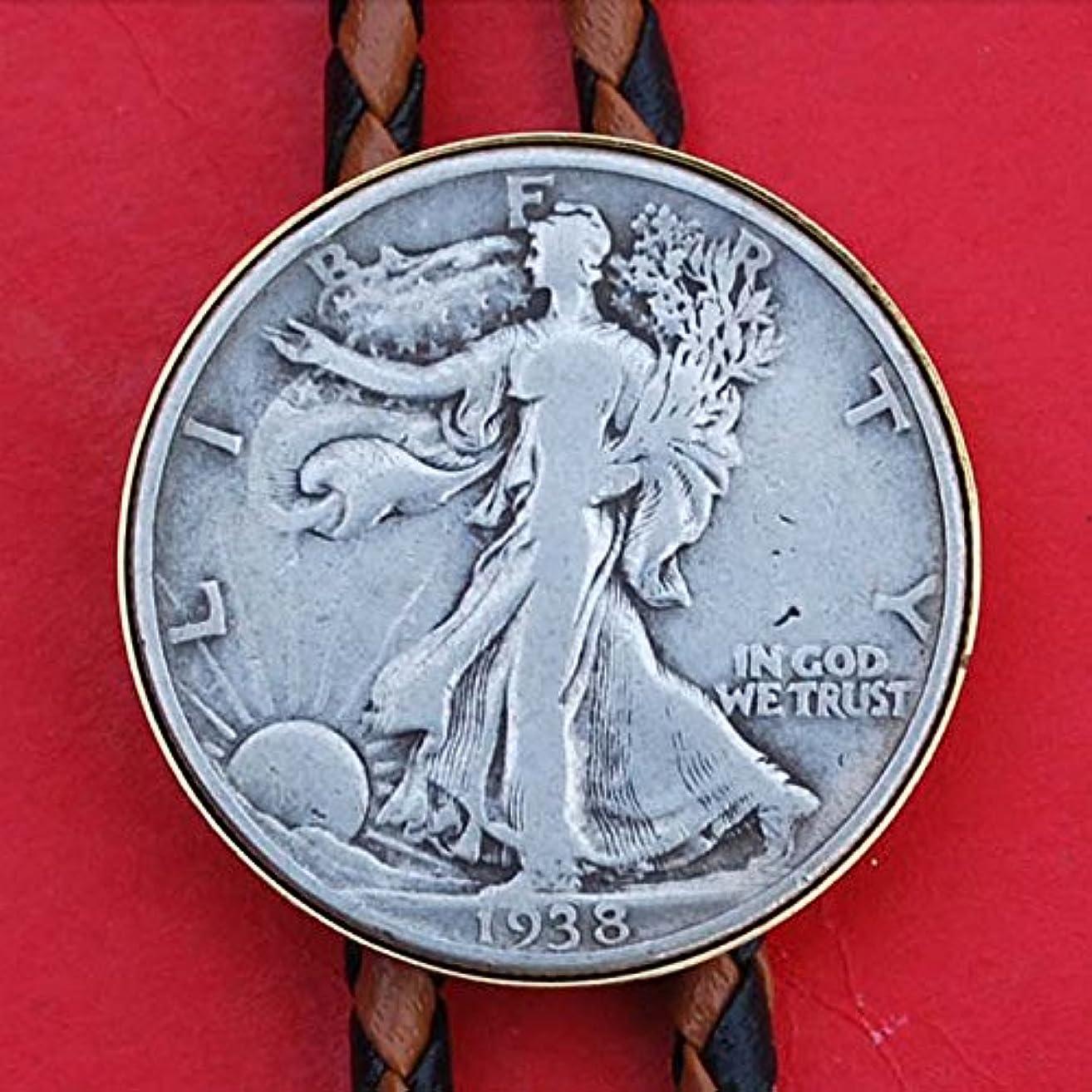 US 1938 Walking Liberty Half Dollar 90% Silver Coin Simple Slide 36