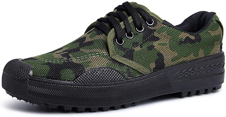 RcnryCamouflage Casual Schuhe Anti-Rutsch-Verschleifest Niedriger Komfort Leichter Komfort Arbeitsschutz Canvas Atmungsaktive Gummistiefel C,43