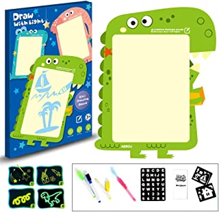 yeesport Fluorescent Drawing Board Educational Light Drawing Pad Glow Doodle Board Luminous Writing Board for Kids Light D...