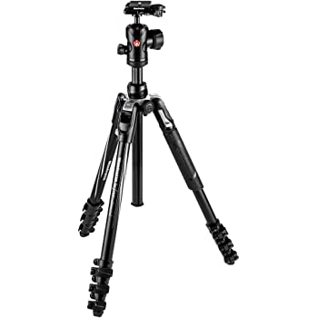 Manfrotto Befree Advanced Tripod MKBFRLA4BK-BH Befree Travel Tripod, Lever Lock with Ball Head for Canon, Nikon, Sony, DSLR, CSC, Mirrorless, Up to 8 kg with Tripod Bag, Lightweight Aluminium, Black