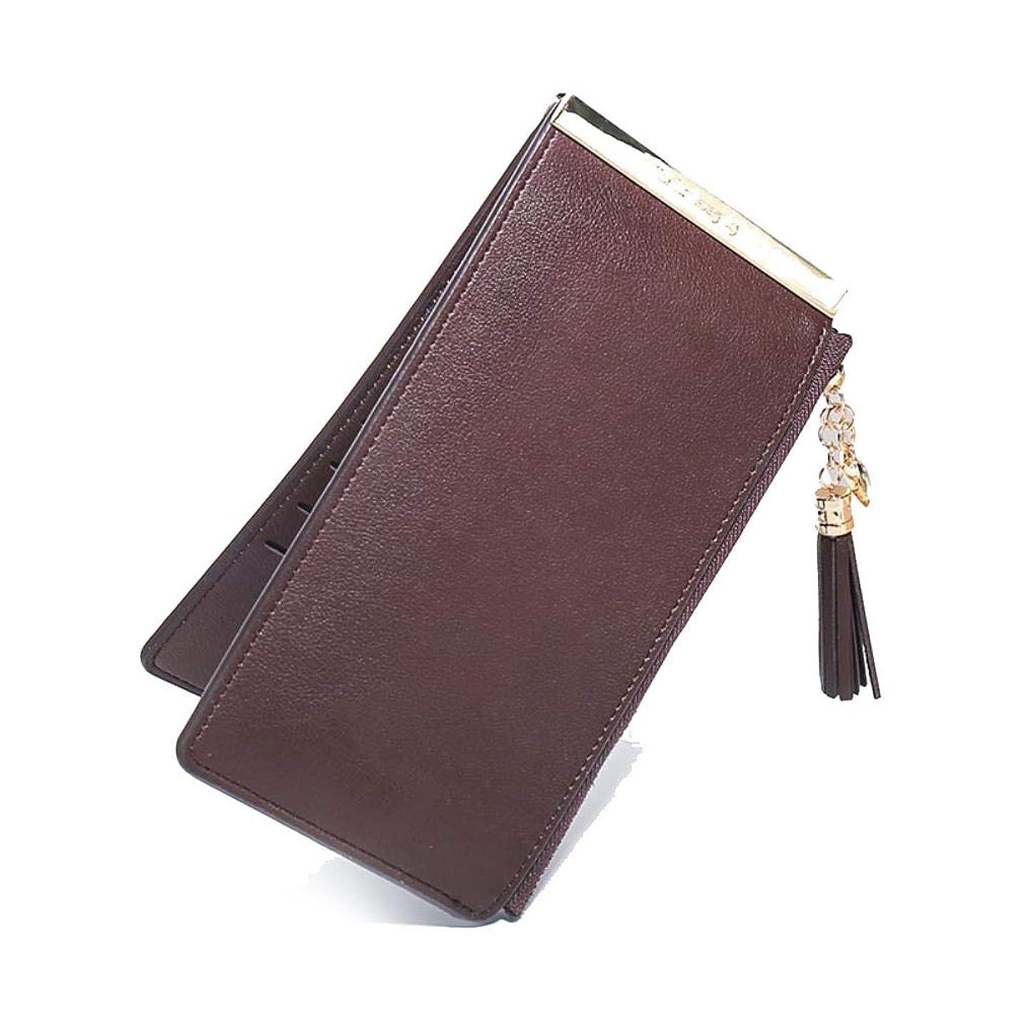 終了する小麦クラウンハンドバッグの女性のカードカード財布カードパッケージ韓国語バージョンのジッパー電話バッグ女の子カジュアルな人格野生財布
