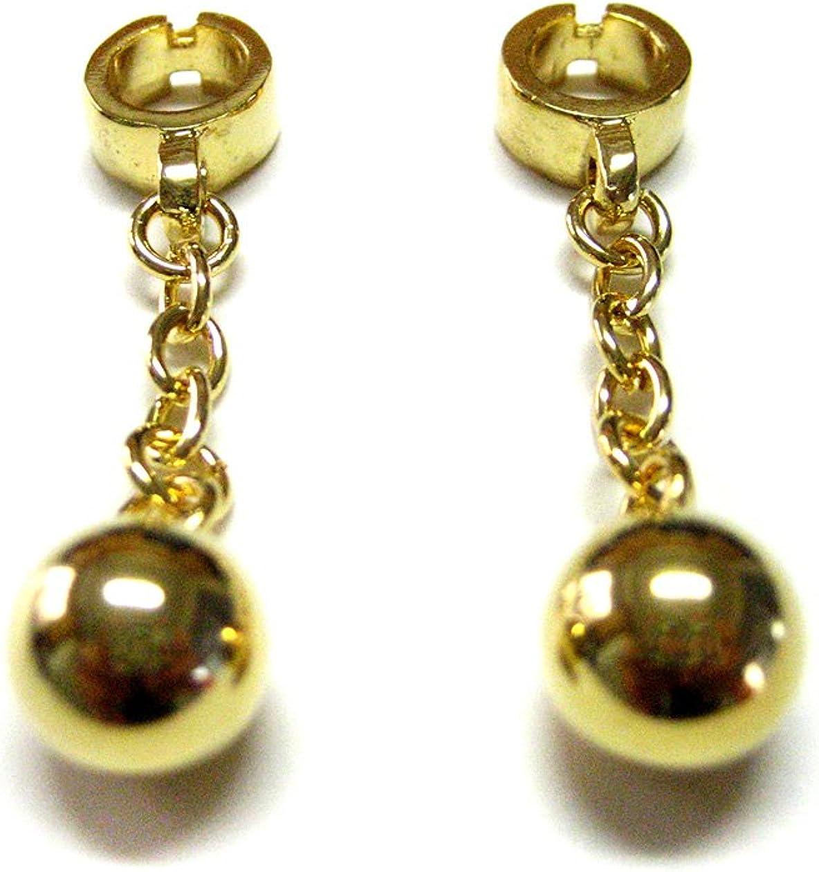 Wedding Golden Ball and Chain Cufflinks