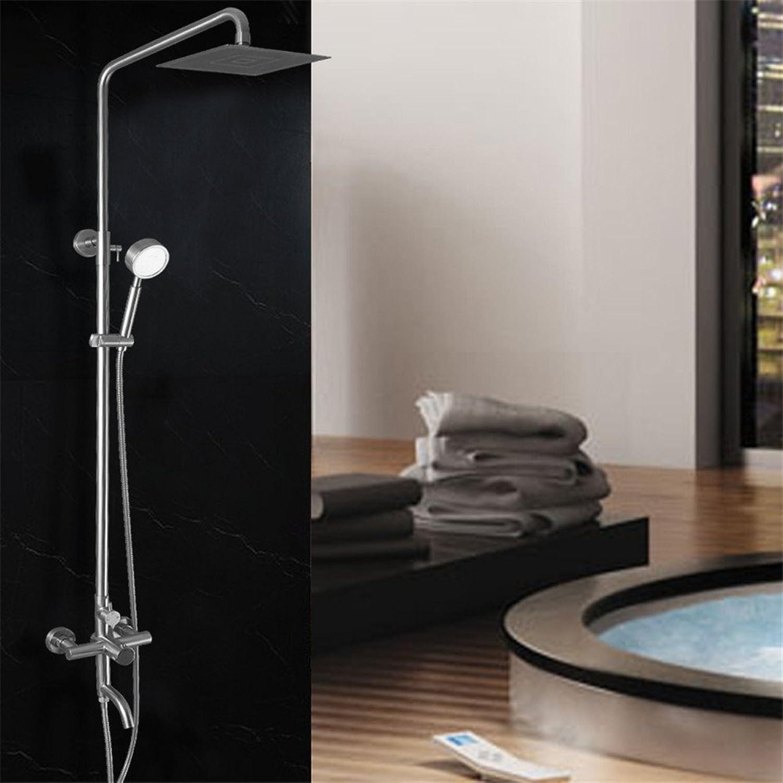 MIWANG 304 Edelstahl Dusche Dusche, intelligente Temperaturregelung Dusche Dusche unverbleites Booster, EIN