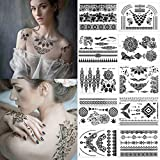 Tatouages Temporaires – Meersee 10 Planches de Tatouage Mandala Temporaire Impermeable Tattoo Mehndi Stickers pour Femme