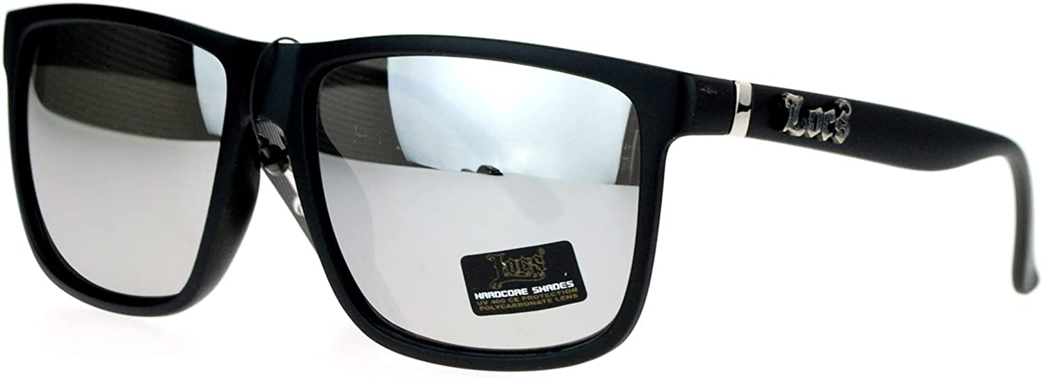 Locs Special price for a limited time Mirror Lens Gangster horned Sunglasse Rectangular Oversized Washington Mall