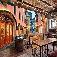 Djskhf カスタム大規模壁画環境壁紙ヨーロッパのイタリアの町ヨーロッパスタイルの街路景観壁画壁 240X165Cm