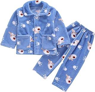 Bebé Ropa de Casa 0-12T Infantil Homewear Niños Pijama Niña Ropa de Dormir Niño Camisones Franela Calentar Invierno