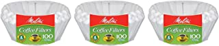 Melitta Junior Basket Coffee Filters White 100 Count (3 pack)