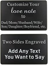 Custom Engraved Wallet Insert Card Love Note Personalized Gift (Custom wallet insert card)